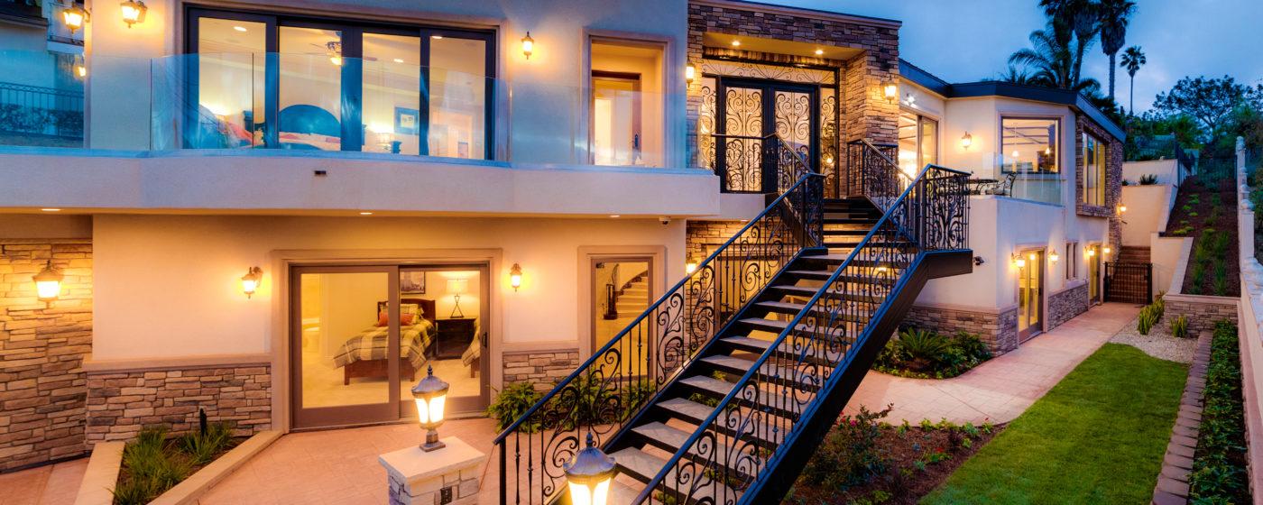 Steel Stairway with Rebecca Panels and Door